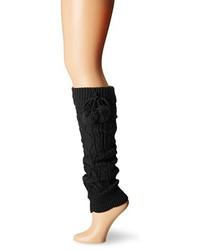 Steve Madden Legwear Pompom Leg Warmer