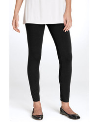 Eileen Fisher Stretch Ankle Leggings Black X Large