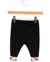 Burberry Girls Stretch Knit Nova Check Trimmed Leggings