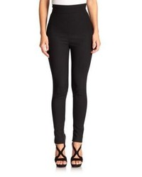 Alexander McQueen High Waist Stretch Wool Leggings