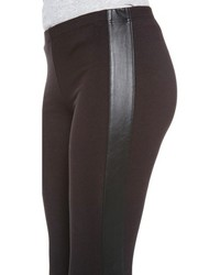 Splendid Leggings With Faux Leather Stripe   Where to buy & how to ...