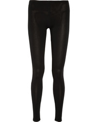 Splendid Stretch Jersey Leggings Black