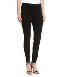 Eileen Fisher Stretch Suede Ankle Leggings Black