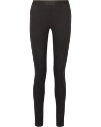 Ann Demeulemeester Stretch Wool Blend Skinny Leggings Black
