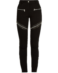 Givenchy Zip And Leather Trim Double Knit Leggings