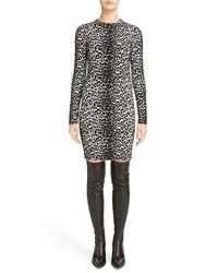 Givenchy Leopard Jacquard Body Con Dress