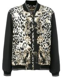 Roberto cavalli leopard print bomber jacket medium 1310255
