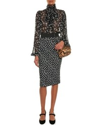 231212d2 Dolce & Gabbana Tie Neck Daisy Print Blouse, $847 | MATCHESFASHION ...