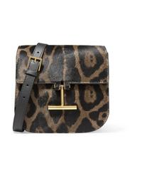 Tom Ford Tara Mini Leopard Print Calf Hair And Leather Shoulder Bag