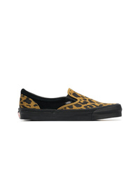 9f36f06197 Vans Black And Yellow Vault Ua Og Leopard Print Slip On Sneakers
