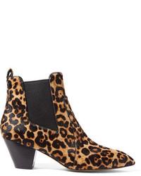 Marc Jacobs Kim Leopard Print Calf Hair Chelsea Boots Leopard Print