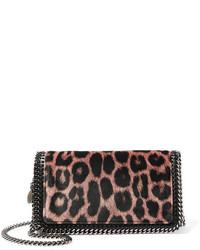 Stella McCartney The Falabella Leopard Print Velvet Shoulder Bag Leopard Print