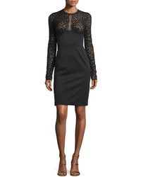 Leopard lace sheath dress black medium 694079