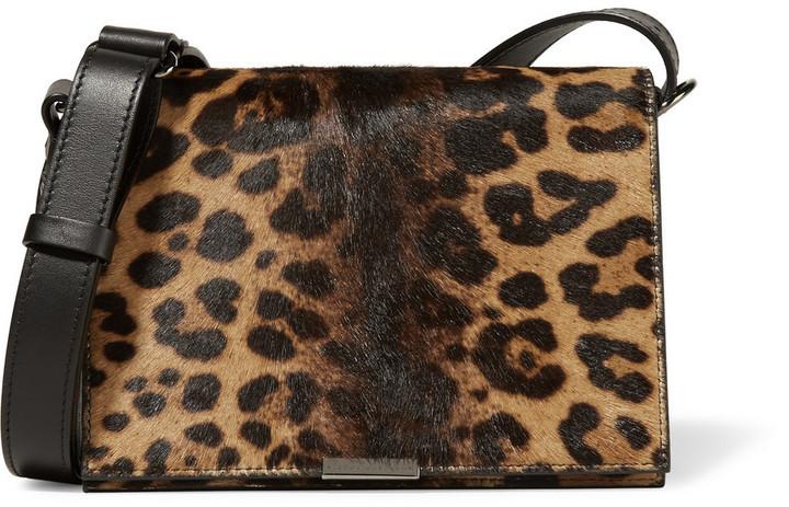 8c323761c895 ... Victoria Beckham Leopard Print Calf Hair And Leather Shoulder Bag  Leopard Print
