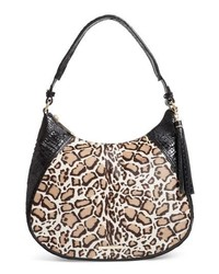 Brahmin Amira Genuine Calf Hair Croc Embossed Leather Shoulder Bag
