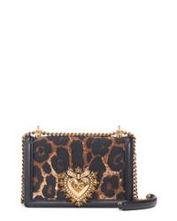 Dolce & Gabbana Devotion Genuine Calf Hair Leather Crossbody Bag