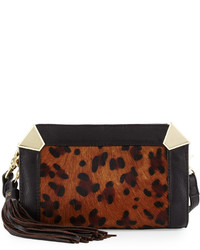 Foley + Corinna Portrait Calf Hair Crossbody Bag Leopard