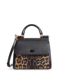 Dolce & Gabbana Sicily 58 Leopard Pattern Leather Satchel