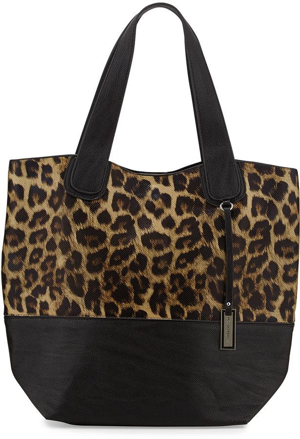 c132cc2aff2b ... Urban Originals Coogee Leopard Print Tote Bag Blackleopard ...