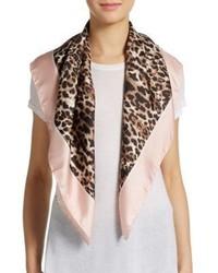 c1eeec88527a ... Valentino Leopard Print Silk Scarf ...