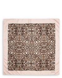 ee86a4d856da ... Valentino Leopard Print Silk Scarf