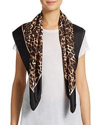 Valentino Leopard Print Silk Scarf