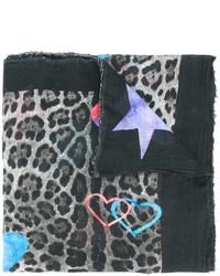 Ottotredici leopard print scarf medium 843012