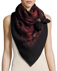 Reversible paisley leopard square scarf medium 3651369