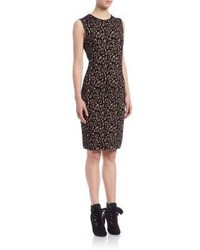 Lanvin Sleeveless Leopard Jacquard Dress