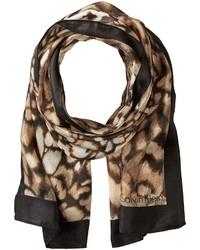 Calvin Klein Abstract Animal Silk Scarf Scarves