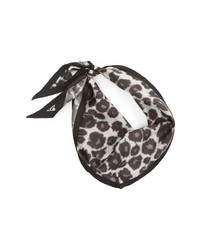 Echo Leopard Diamond Silk Scarf