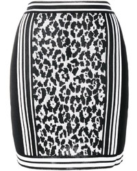 Balmain Leopard Jacquard Skirt