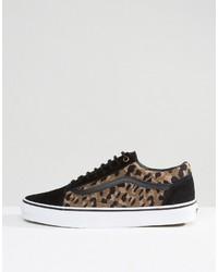 black leopard vans