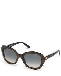 Roberto Cavalli Alathfar Oversized Angular Sunglasses