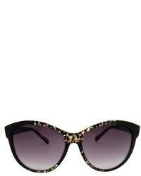 Cat Eye Cateye Leopard Sunglasses Blackbrown