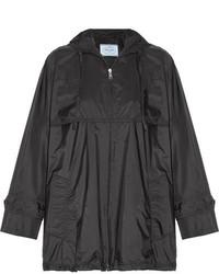 Prada Hooded Shell Jacket Black