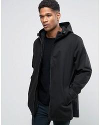 Asos Lightweight Parka Jacket In Black
