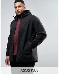 Asos Plus Lightweight Parka Jacket In Black