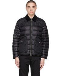 Burberry Black Down Diamond Quilted Jacket