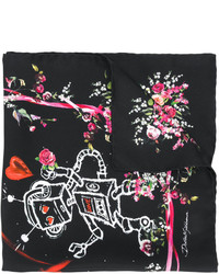 Dolce & Gabbana Love Patterned Neck Scarf