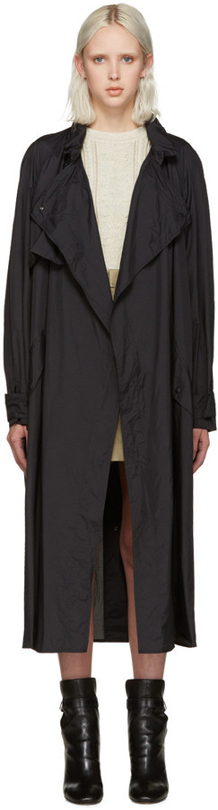 Isabel Marant Black Dracen Trench Coat