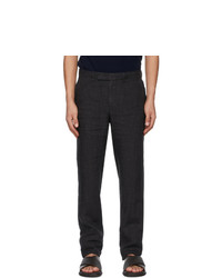 Ermenegildo Zegna Black Pure Linen Trousers
