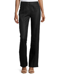 Lafayette 148 New York Wear Linen Twill Trousers Black