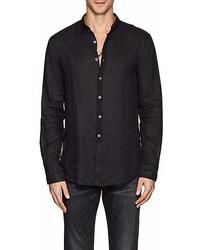 John Varvatos Gart Dyed Linen Slim Shirt