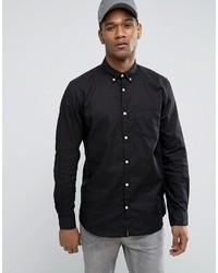 Black Linen Long Sleeve Shirts for Men | Men's Fashion