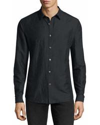 Theory Linen Blend Long Sleeve Sport Shirt