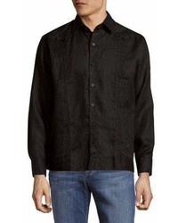 Saks Fifth Avenue Linen Casual Button Down Shirt