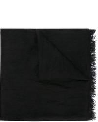 Black Linen Scarf