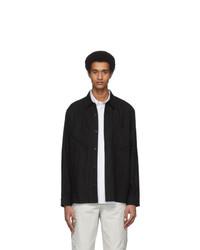 Hope Black Linen Overshirt Jacket