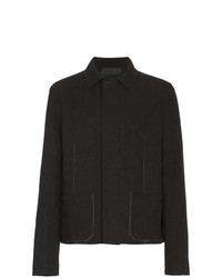 Haider Ackermann Exposed Stitch Linen Cotton Blend Shirt